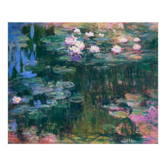 Water Lily Flower Pond Poster