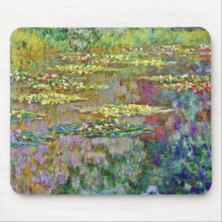 Water Lily Flowers Claude Monet Fine Art Mouse Pad