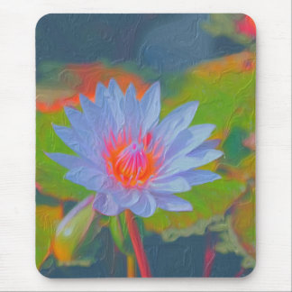 Water Lily Impasto Mouse Pad