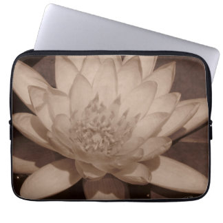 Water Lily in sepia tone Laptop Sleeve