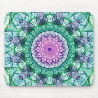 Water Lily kaleidoscope Mouse Pad