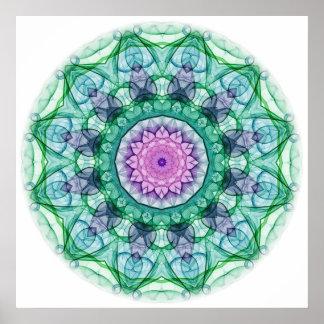 Water Lily kaleidoscope Print