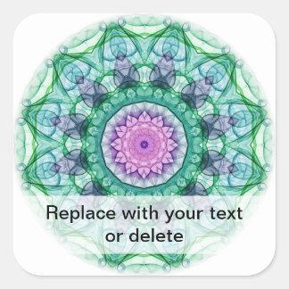 Water Lily kaleidoscope Sticker