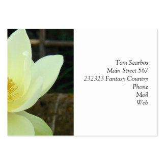 water lily large business cards (Pack of 100)