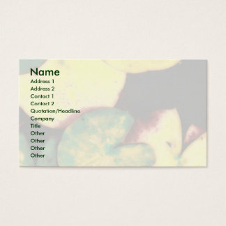 Water lily leaves business card