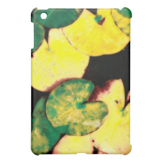 Water lily leaves iPad mini cover