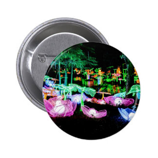 Water LIly Light Up Night Photography Pinback Button