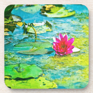 Water Lily Lilypad Drink Coaster