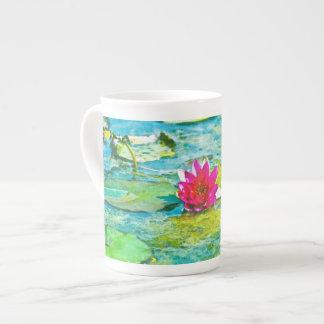 Water Lily Lilypad Bone China Mugs