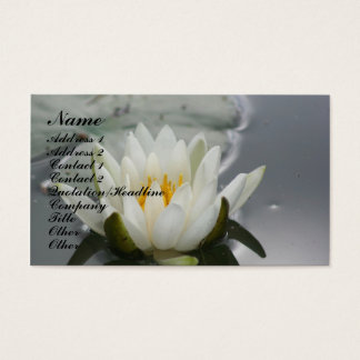 Water Lily Lotus Blossom Floral Business Card