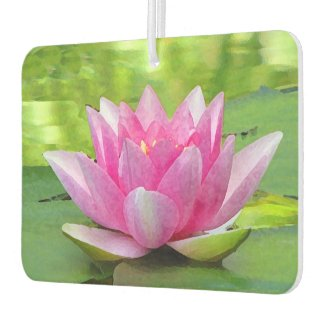 Water Lily Lotus Flower Air Freshener