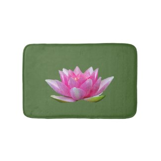 Water Lily Lotus Flower Bath Mats