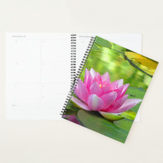 Water Lily Lotus Flower Floral Planner