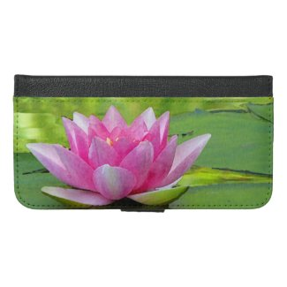 Water Lily Lotus Flower iPhone 6 Plus Wallet Case