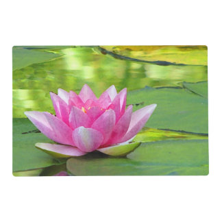 Water Lily Lotus Flower Laminated Placemat