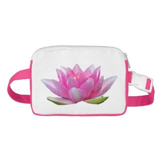 Water Lily Lotus Flower Nylon Fanny Pack