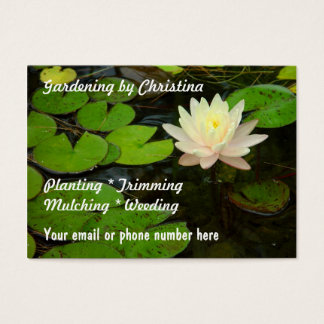 Water lily Lotus flower pond Business Cards