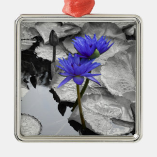 Water Lily Love Ceramic Ornament