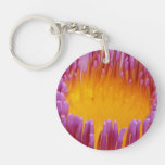 Water Lily Macro Single-Sided Round Acrylic Keychain