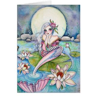 Water Lily Mermaid - Note Card