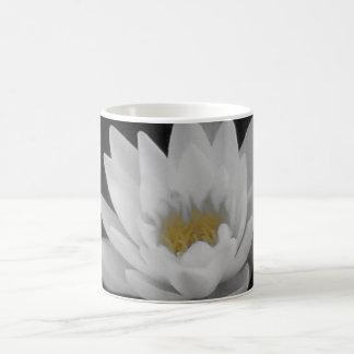 Water Lily mono and yellow Coffee Mug