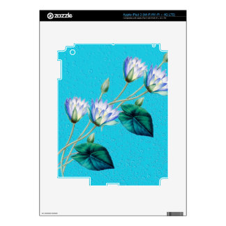 Water Lily On Blue iPad 3 Skins