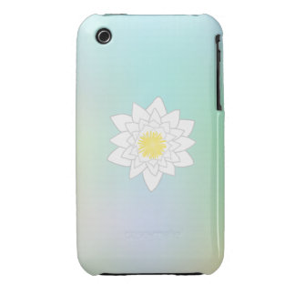 Water Lily on Pretty Pastel Background iPhone 3 Cover