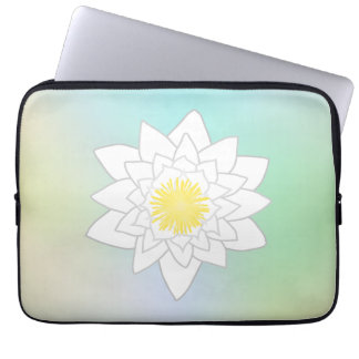 Water Lily on Pretty Pastel Background Laptop Computer Sleeves