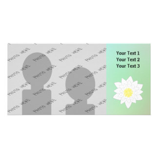 Water Lily on Pretty Pastel Background. Picture Card