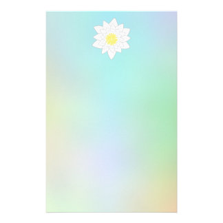Water Lily on Pretty Pastel Background. Stationery