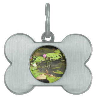 Water LIly Pad Pond Pet Tag