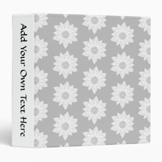 Water Lily Pattern in Light Gray. Binder