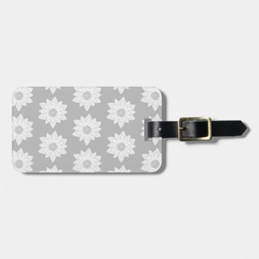 Water Lily Pattern in Light Gray. Tags For Bags