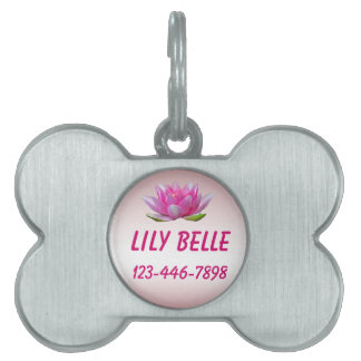 Water Lily Pet Tag
