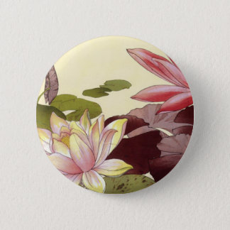 Water Lily Pinback Button