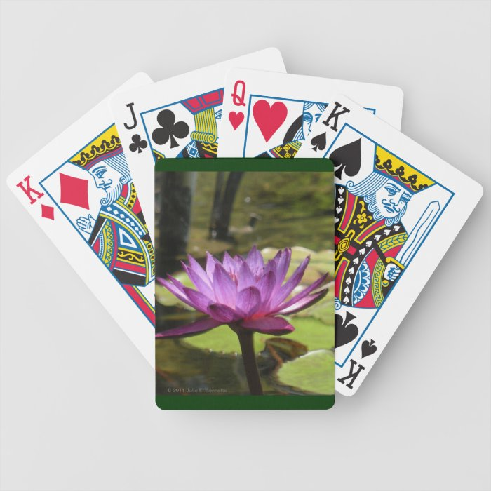 Water Lily Playing Cards