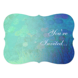Water Lily Pond 5x7 Paper Invitation Card