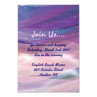 Water Lily Pond Bat Mitzvah Reception Party card Invitation