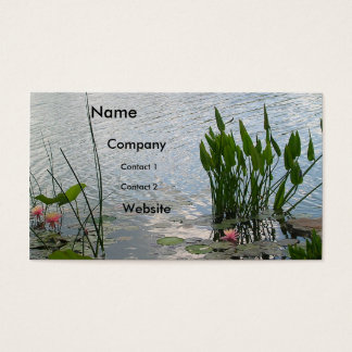 Water Lily Pond Business Card