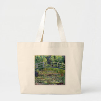 Water Lily Pond by Claude Monet Canvas Bags