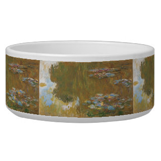 Water Lily Pond by Claude Monet Dog Bowls