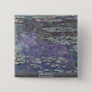 Water Lily Pond By Claude Monet Pinback Button