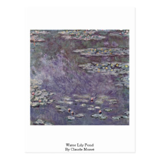 Water Lily Pond By Claude Monet Postcard