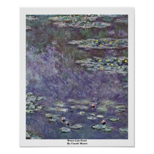Water Lily Pond By Claude Monet Poster