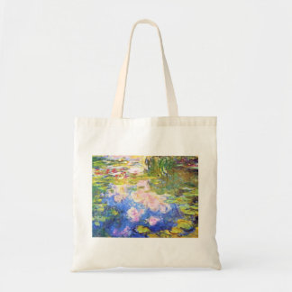 Water Lily Pond Claude Monet Canvas Bag