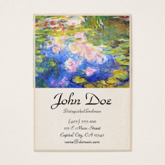 Water Lily Pond Claude Monet Business Card