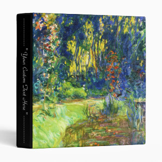 Water Lily Pond Claude Monet cool, old, master, ma Binder