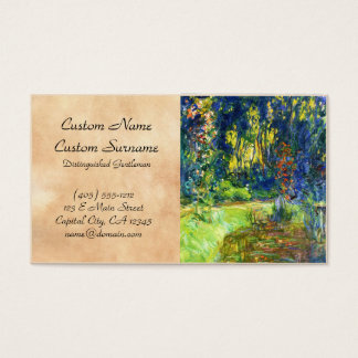 Water Lily Pond Claude Monet cool, old, master, ma Business Card