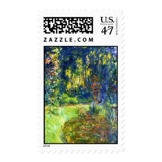 Water Lily Pond Claude Monet cool, old, master, ma Postage