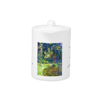 Water Lily Pond Claude Monet cool, old, master, ma Teapot